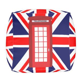 電話箱の英国国旗のイギリスの旗 プーフ