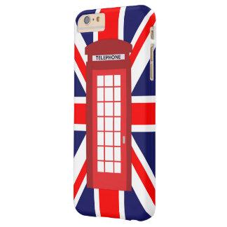 電話箱の英国国旗のイギリスの旗 BARELY THERE iPhone 6 PLUS ケース