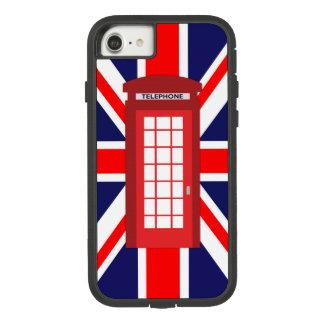 電話箱の英国国旗のイギリスの旗 Case-Mate TOUGH EXTREME iPhone 7ケース
