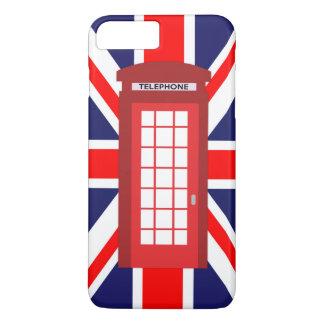 電話箱の英国国旗のイギリスの旗 iPhone 8 PLUS/7 PLUSケース