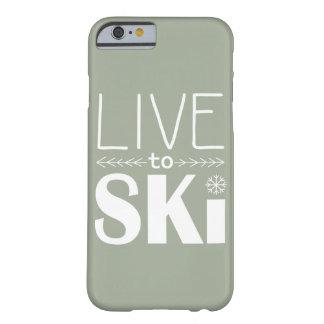 電話箱の(基本) -スキーをするためにオリーブ住んで下さい BARELY THERE iPhone 6 ケース