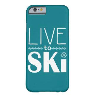 電話箱の(基本) -スキーをするためにティール(緑がかった色)住んで下さい BARELY THERE iPhone 6 ケース