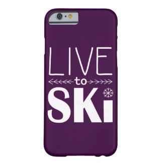 電話箱の(基本) -スキーをするためにプラム住んで下さい BARELY THERE iPhone 6 ケース