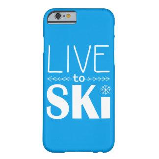 電話箱の(基本) -スキーをするために青住んで下さい BARELY THERE iPhone 6 ケース