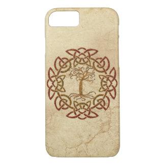電話箱ケルト族の円のバイキングの生命の樹 iPhone 7ケース