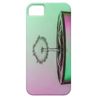 電話箱水しぶき衝突の緑のピンク iPhone 5 COVER