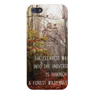 電話箱-活版印刷の森林荒野 iPhone SE/5/5sケース
