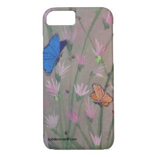 """電話箱- """"蝶です自由""""は iPhone 8/7ケース"""