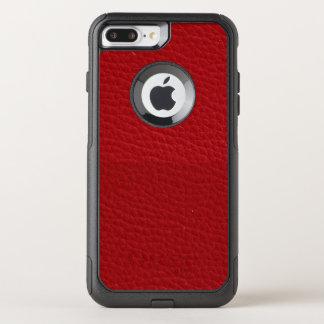 電話箱 -- 赤い革背景 オッターボックスコミューターiPhone 8 PLUS/7 PLUSケース
