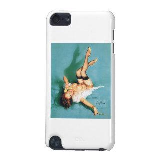 電話-女の子の上のヴィンテージPin iPod Touch 5G ケース
