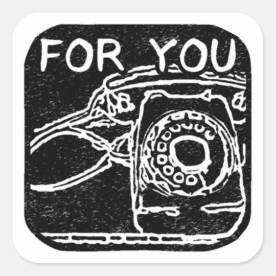 電話 柄 プレゼント シール