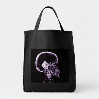 電話-紫色のX線の骨組 トートバッグ