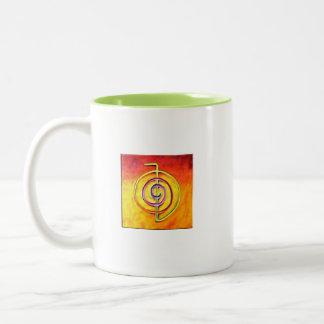 霊気のコーヒー・マグ ツートーンマグカップ