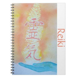 霊気のノート-モモ及びターコイズ ノートブック