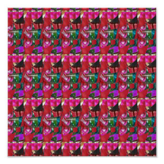 霊気のマスターによるエネルギー色のパターンそして曼荼羅 ポスター