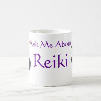 霊気の紫色のバラについて私に尋ねて下さい コーヒーマグカップ