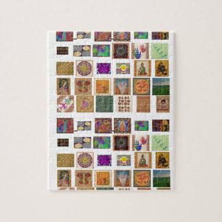 霊気、ommantra、仏のganesh、chokurei、krishチャクラ ジグソーパズル