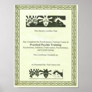 霊魂の訓練の証明書 ポスター