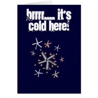 霜の降りたなカスタマイズ可能 カード