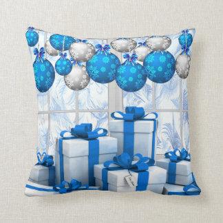 """""""霜の降りたなクリスマスの朝""""の装飾用クッション16"""" x 16"""" クッション"""