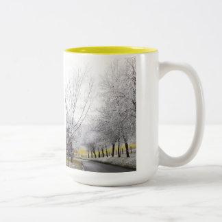 霜の降りたな旅行 ツートーンマグカップ