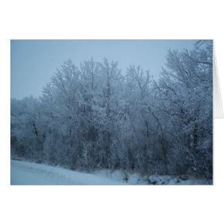 霜の降りたな日Notecard カード