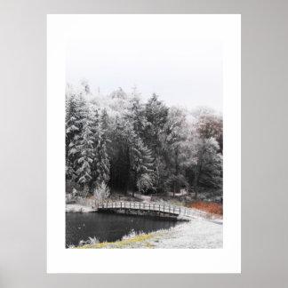 霜の降りたな朝の橋 ポスター