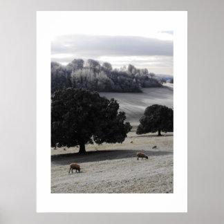 霜の降りたな朝 ポスター