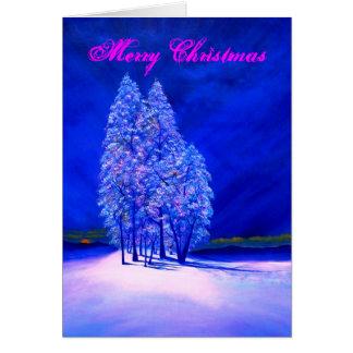 霜の降りたな木でかいま見る月 カード