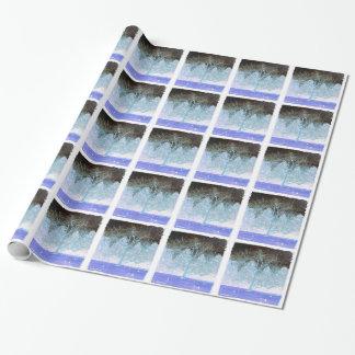 霜の降りたな木の包装紙 ラッピングペーパー