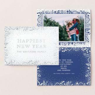 霜の降りたな枝休日の写真 箔カード