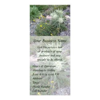 霜の降りたな球の高山の野生の花 ラックカード