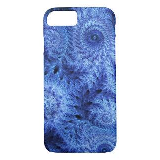 霜、冬の青いiPhone 7の箱を凍らして下さい iPhone 8/7ケース