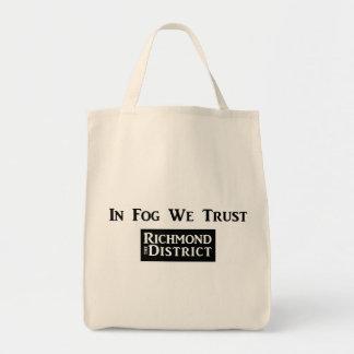 霧で私達は食料雑貨のトートを信頼します トートバッグ