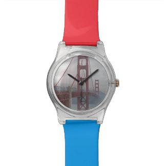 霧のゴールデンゲートブリッジ 腕時計