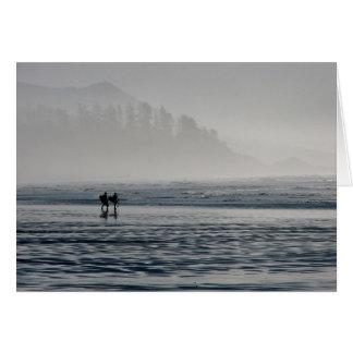 霧のサーファー グリーティングカード