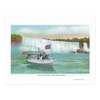 霧のボートの女中の眺め ポストカード