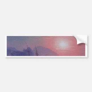 霧の朝の日の出 バンパーステッカー