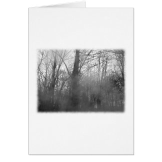 霧の木。 白黒。 カード