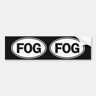 霧の楕円形のアイデンティティの印 バンパーステッカー
