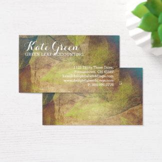 霧は葉に緑の専門の自然をエレガント去ります 名刺