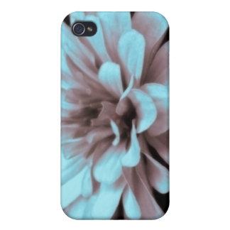 霧深いかすんでいる微妙な色合いの《植物》百日草の写真 iPhone 4/4S ケース