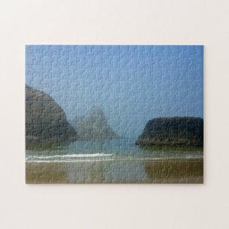 霧深いビーチの午後 ジグソーパズル