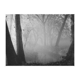 霧深い夜 キャンバスプリント
