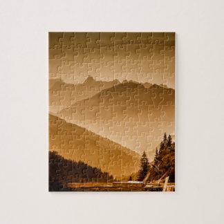 霧深い山 ジグソーパズル