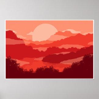 霧深い山 ポスター