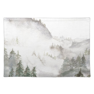 霧深い山 ランチョンマット