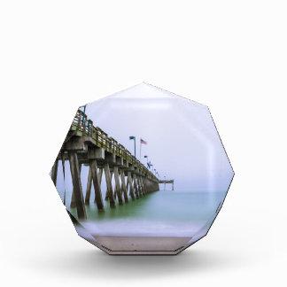 霧深い日のベニスのビーチ桟橋 表彰盾