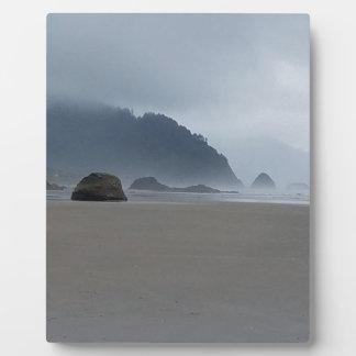 霧深い日の抱擁ポイントオレゴンの海岸 フォトプラーク