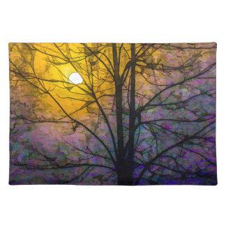 霧深い日没 ランチョンマット